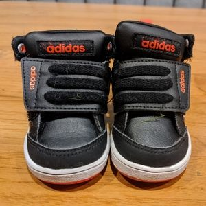 Toddler Adidas Black high tops size 3